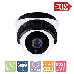 "COSOOS 1/3"" CMOS 1200TVL CCTV Home Security Weatherproof 1pc"