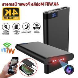 10000mAh Power Bank 4K WIFI Hidden Spy Camera Night Vision R