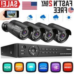 CCTV 8CH 1080P Video Security DVR Outdoor 3000TVL IR Camera