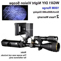 100M Night Vision Lens DIY Night Vision Scope 800x480 Displa
