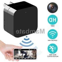 1080P HD Hidden SPY Cam Wall Charger WiFi Remote View Record