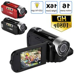 1080P HD Camcorder Digital Video Camera TFT LCD 24MP 16X Zoo