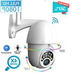 1080P HD Outdoor Waterproof WiFi PTZ Pan Tilt Security IP IR