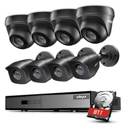 SANNCE 1080P Lite 8CH DVR 2MP Security Camera System Outdoor