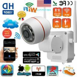 1080P Outdoor Wireless WIFI IP Camera SD Slot Network Night