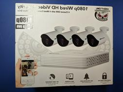 Night Owl 1080p Wired Video Security 4 Channel DVR with 4 Ca