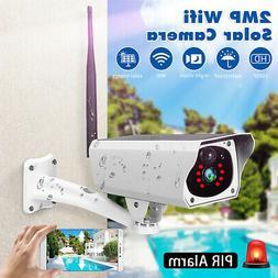 1080P Wireless WIFI Outdoor Solar Power Camera Surveillance
