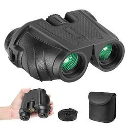 10x25 Folding High Powered Binoculars with Weak Light Night