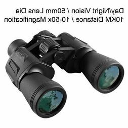 10X50 Night Vision Binoculars 10KM Wide Angle Binoculars Wat