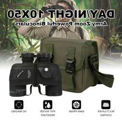 10x50 Zoom Day Night Vision Outdoor Travel HD Binoculars Hun