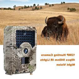 12mp photo trap night vision 49pcs leds