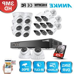 ANNKE 16CH Real 3MP 5IN1 DVR CCTV IP System Security Camera