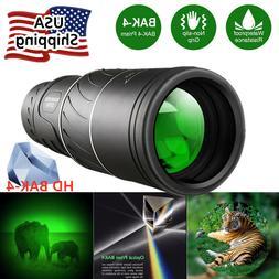 16x52 Binocular Monocular with Night Vision BAK4 Prism  Wate