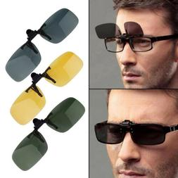 1PC Driving Night Vision Clip-on Flip-up Lens Sunglasses Gla