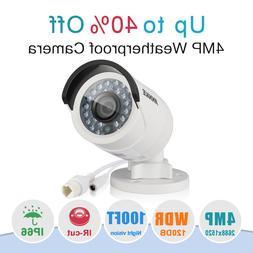 ANNKE 1pcs HD 4MP PoE Security IP Network Camera 4mm IR Nigh