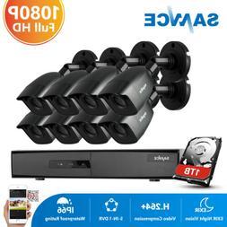 SANNCE 8CH 1080P HDMI DVR 1500TVL Security Camera System CCT
