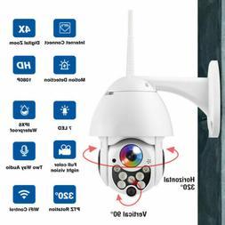 2.0MP Outdoor WIFI Camera P2P Surveillance Cam 4X Zoom Night