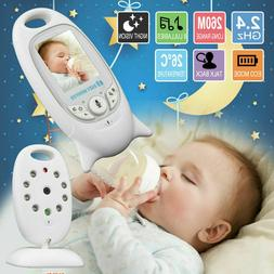 "2"" Baby Monitor 2.4GHz Color LCD Audio Talk Night Vision Wir"