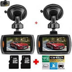 2X 1080P HD Car DVR Dash Vehicle Camera Video Recorder Cam N