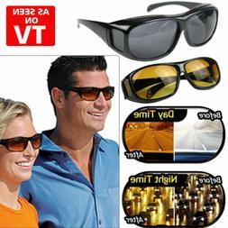 2 pair set hd night vision wraparound