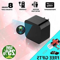 2018 Model: Spy Camera Wall Charger, Night Vision-1080P HD R