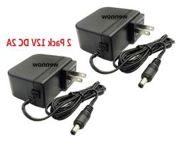 2 Pack 12V 2A 12 Volt DC 2 Amp Surveillance Camera Power Sup