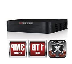 Night Owl 8-Channel 3MP Extreme HD 3.0 DVR 1TB