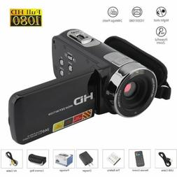 "3"" YouTube Vlogging Video Camera Camcorder 1080P Full HD 24M"