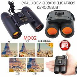 30 x 60 Zoom Day Night Vision Travel Binoculars Hunting Opti