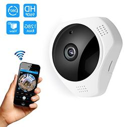 360 Panoramic Degree Night Vision Wireless Security IP camer