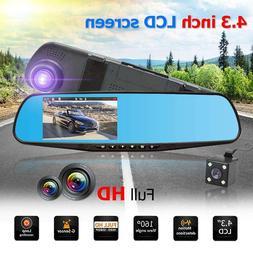 4.3 inch TFT Dual Len HD Car SUV DVR Video Dash Camera <font