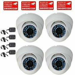 VideoSecu 4 CCTV Infrared Night Vision Outdoor Dome Security