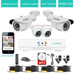 4CH DVR 8CH NVR Outdoor Dome Indoor Night Vision CCTV Securi