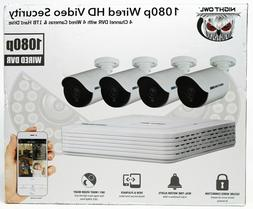 Night Owl 4 Channel 1080p DVR with 4 x 1080p Cameras and 1 T