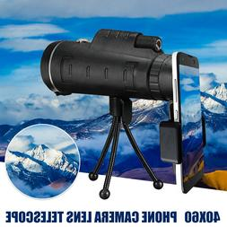 40X60 HD Mini Monocular Telescope BAK4 Prism Day Night Visio