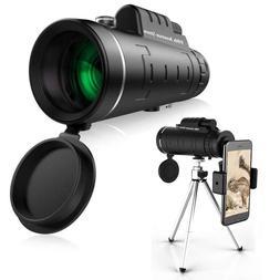 40x60 High Power Monocular Binocular Telescope Spotting Scop
