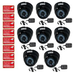 VideoSecu 8 Pack 480TVL CCD 3.6mm Lens Security Cameras Infr