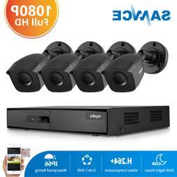 SANNCE 5in1 4CH 1080P HDMI DVR HD 1500TVL Security Camera Sy