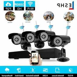 4CH DVR CCTV Security Camera System Wifi