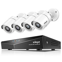 SANNCE 8CH 1080N Surveillance DVR System and  720P 1.0MP HD-