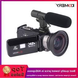 KOMERY 4K <font><b>Camcorder</b></font> Video Camera Wifi <f