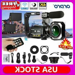 4K WiFi Digital Camera DV Camcorder 24MP 30X Zoom IR Video R