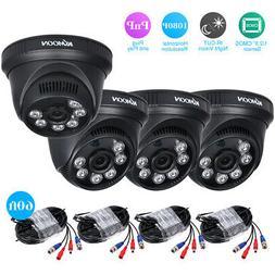 KKmoon 4*1080P 2000TVL AHD Night Vision CCTV Camera 4*60ft BNC Video Cable M9J7