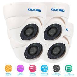 OWSOO 4pcs 800TVL Night Vision Indoor Dome CCTV Camera 4*60f