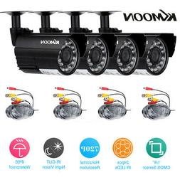 KKmoon 4X 720P Outdoor CCTV Camera Kit Home Security 3.6mm L