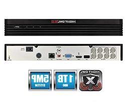 Night Owl 8-Channel 5MP Extreme HD 5.0 DVR 1TB