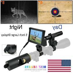 5 Inch 850nm Infrared LED IR Night Vision Rail Scope Riflesc