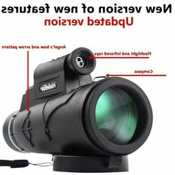 50x60 Portable HD Optical Monocular Day / Night Vision Teles