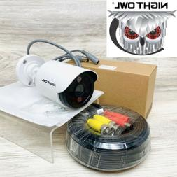 Night Owl 5MP HD White Bullet Security Spotlight Camera w 60