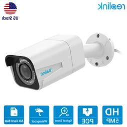 Reolink 5MP PoE IP Camera 4x Optical Zoom SD Card Slot Night